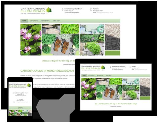 Webseite Gartenplanung