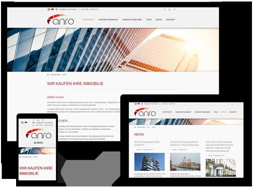 Webseite Immobilenagentur