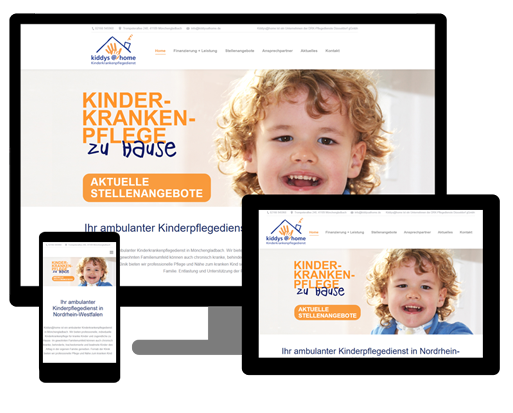 Webseite Kinderpflegedienst