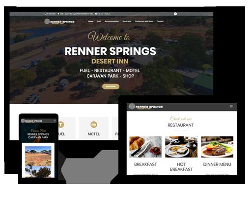 Webseite australisches Roadhouse